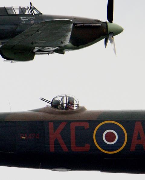 Hurricane and Lancaster Bomber